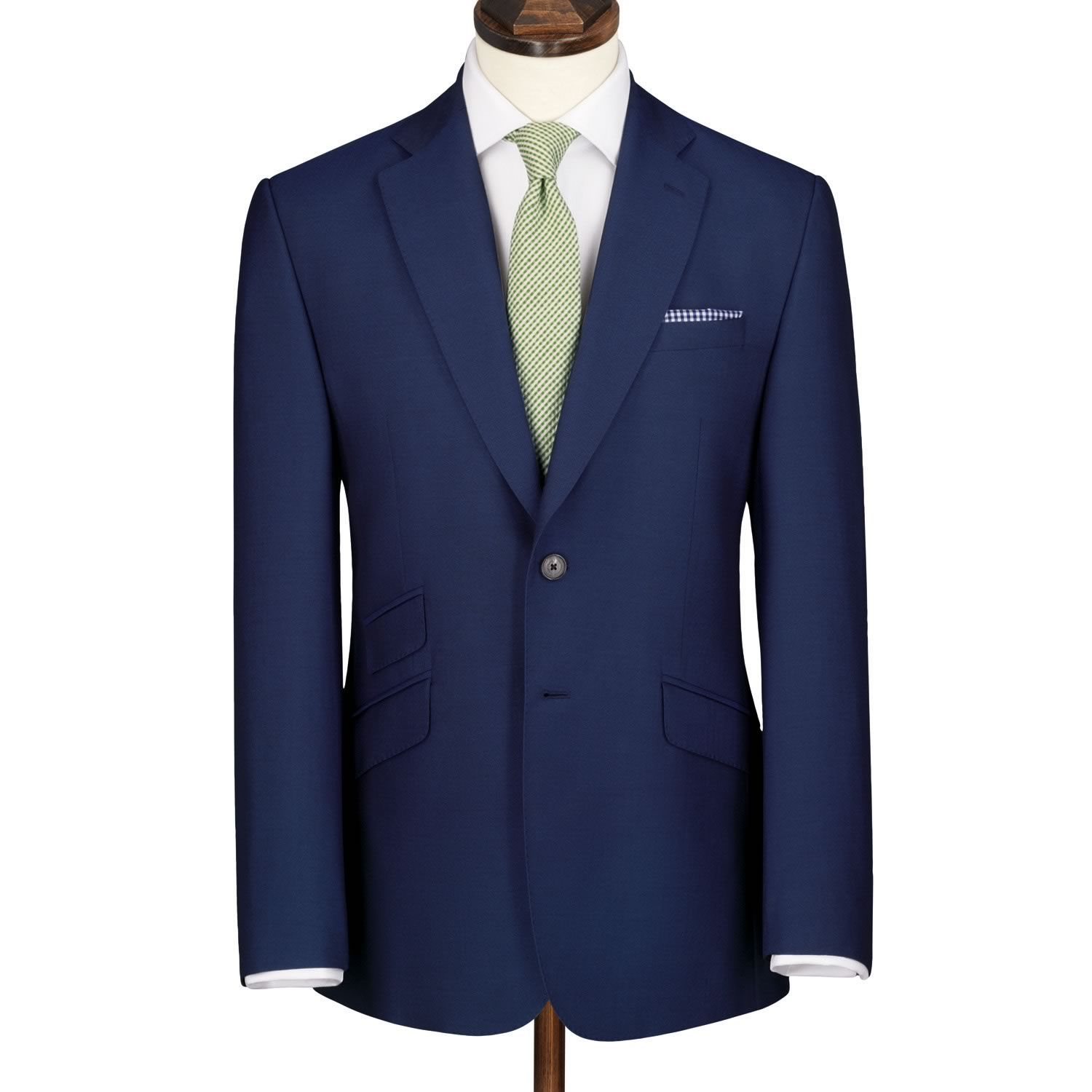 Cobalt panama Yorkshire worsted slim fit luxury suit jacket | Men's business suits from Charles Tyrwhitt | CTShirts.com