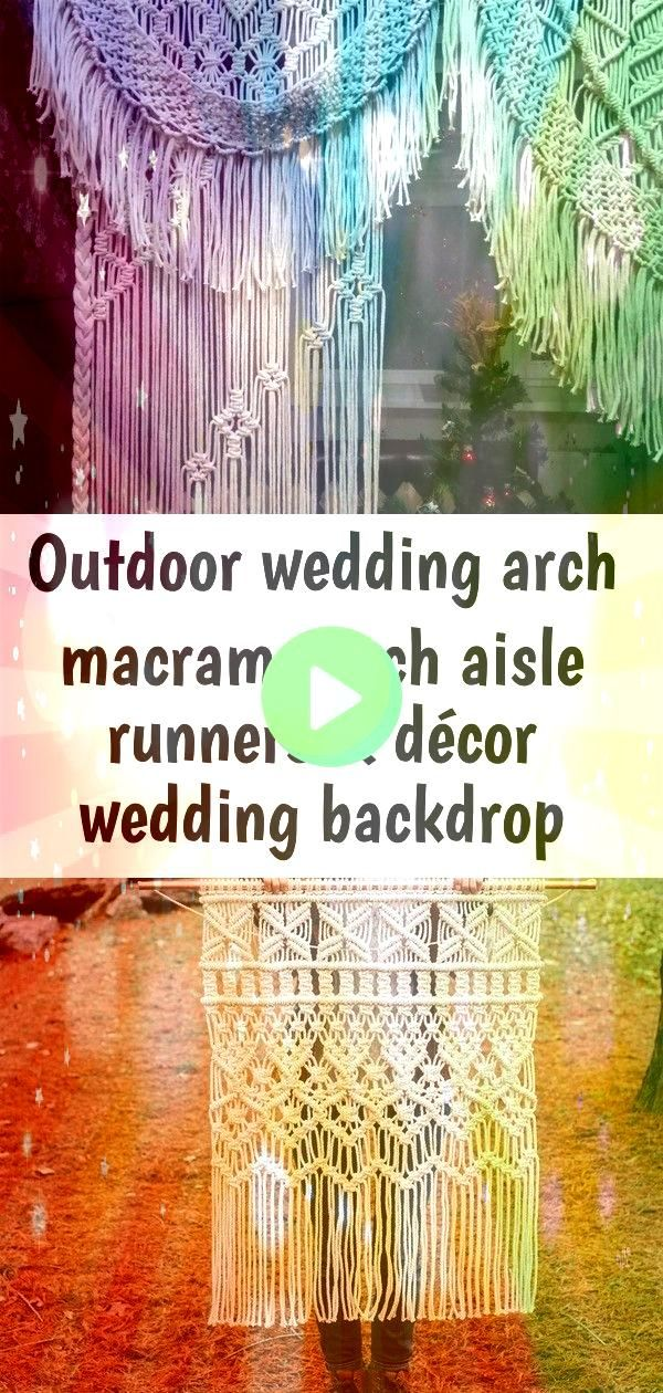 wedding arch Macrame Arch Aisle Runners  Décor  Etsy  Macrame  Macrame  Learn macrame  Macrame for Beginners  make  DIY  Macrame inspiration  Macrame guide  Wall H...