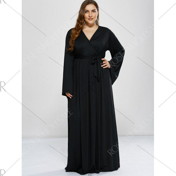 Plus Size Long Sleeve Modest Maxi Formal Dress Formal And Formal