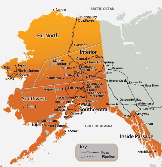 We Are A Huge State But We Dont Have A Lot Of Roads Alaska Road - Alaska usa map