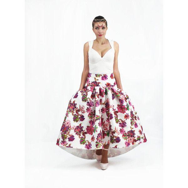 Maxi Skirt, Circle skirt, , Full Cotton Skirt, Floral Skirt, Long ...