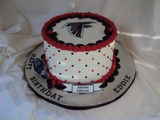 BC icing Fondant decorations Atlanta Falcons cake My Cake