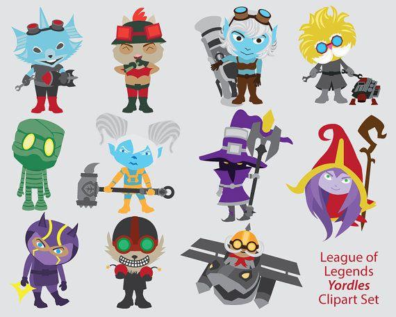 League of Legends Clipart, Yordles, poppy, lulu, corki, veigar ...