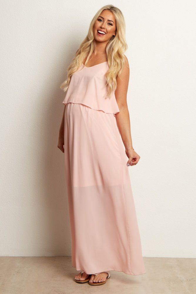 Maternity Maxi Dress Light-Pink