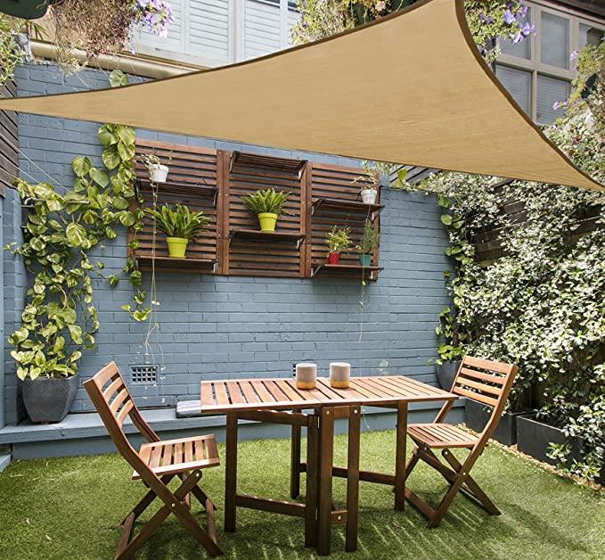 backyard shade patio shade sun sail shade