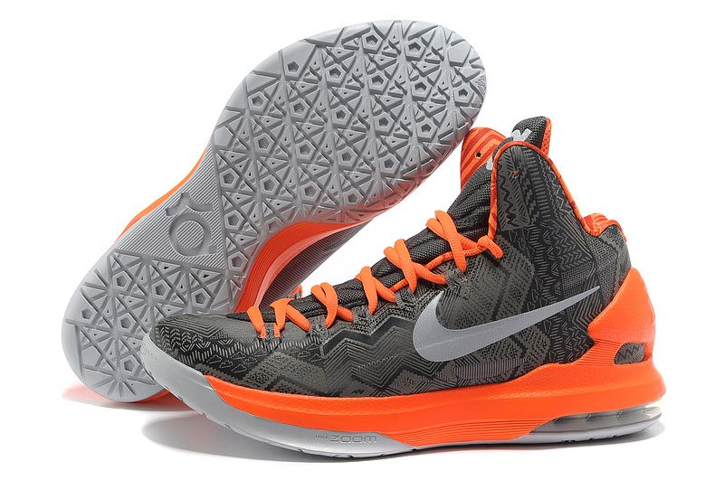 info for 5d1ad ad342 KD Shoes for Girls   Nike KD V Kevin Durant Basketball Shoes Black Orange    Andrea