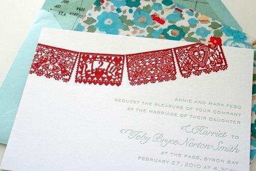 eca2cc1ad30 6a00e554ee8a2288330120a7840918970b 500wi Red + Aqua Papel Picado Wedding  Invitations