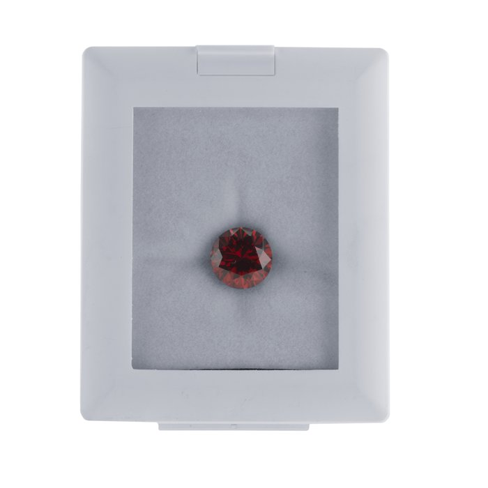 White Plastic Glass-Top Gem Display Box with Easel