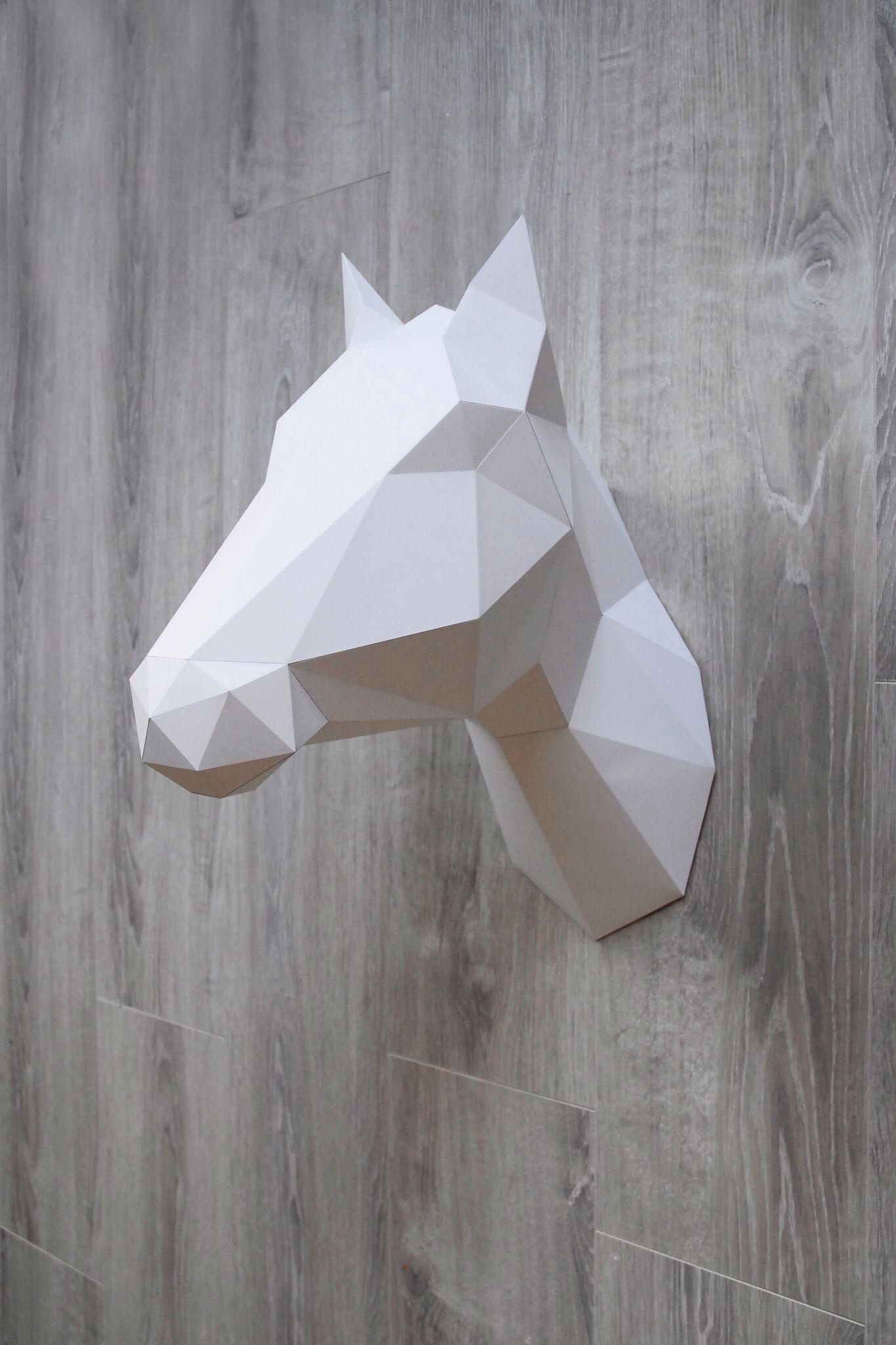 Geometric Horse Paper Sculpture Shop now at www