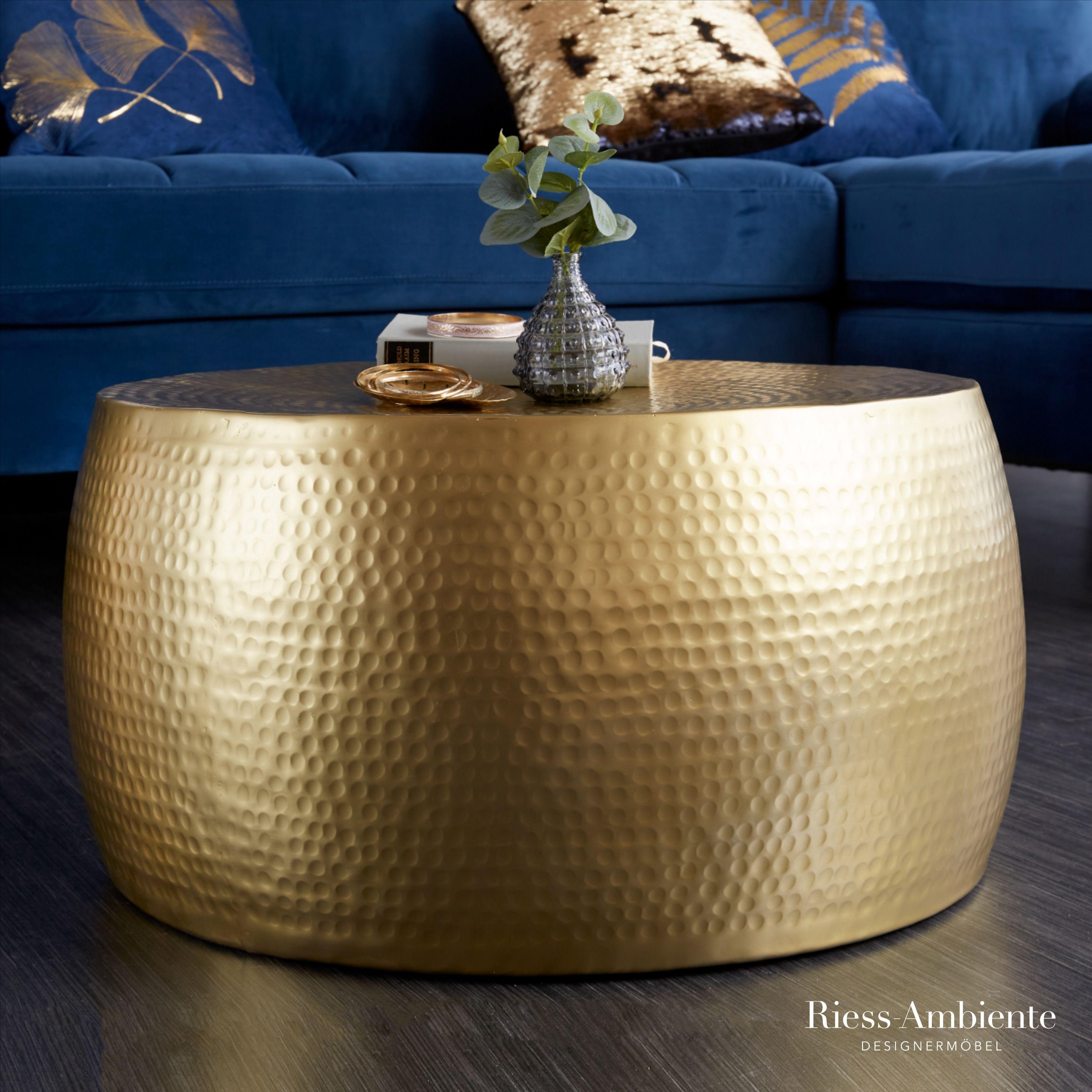 Handgearbeiteter Couchtisch Orient Iii 60cm Gold