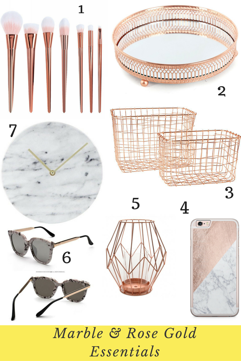 The Top Marble And Rose Gold Ebay Picks I Heart Cosmetics Rose Gold Room Decor Rose Gold Bedroom Gold Room Decor