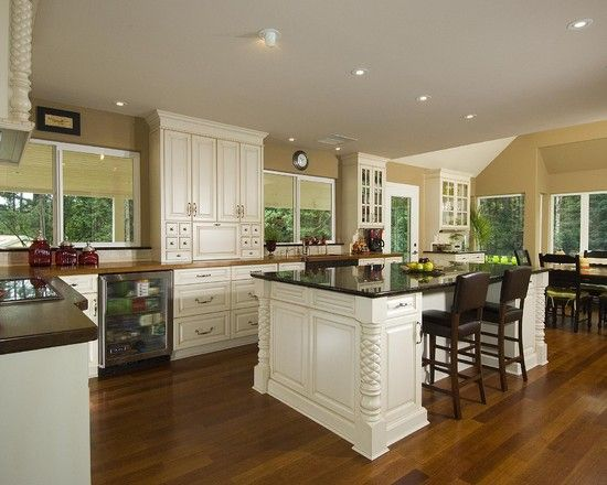 Back Wall Cabinets Sit On Counter Kitchen Design Traditional