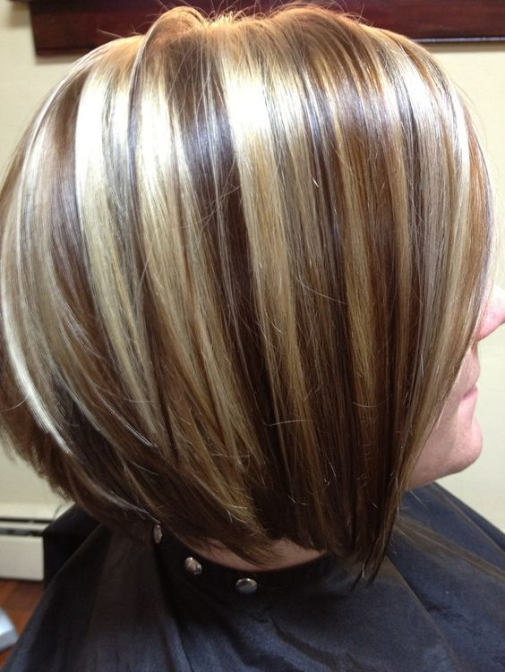 Image result for chocolate brown hair with chunky blonde hair coloring pmusecretfo Gallery