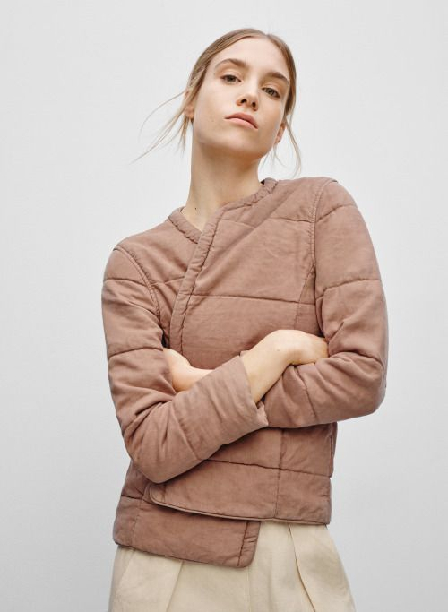 inspiration for grainline tamarack jacket: nice colour & quilting style