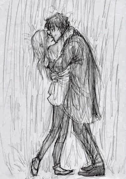 Pencil sketches of couples in love girls and boy sketches