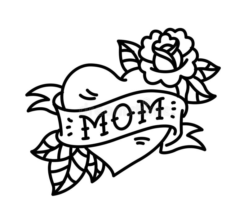 Mom Tattoo Heart Google Search Traditional Tattoo Stencils Mom Heart Tattoo Heart Tattoo