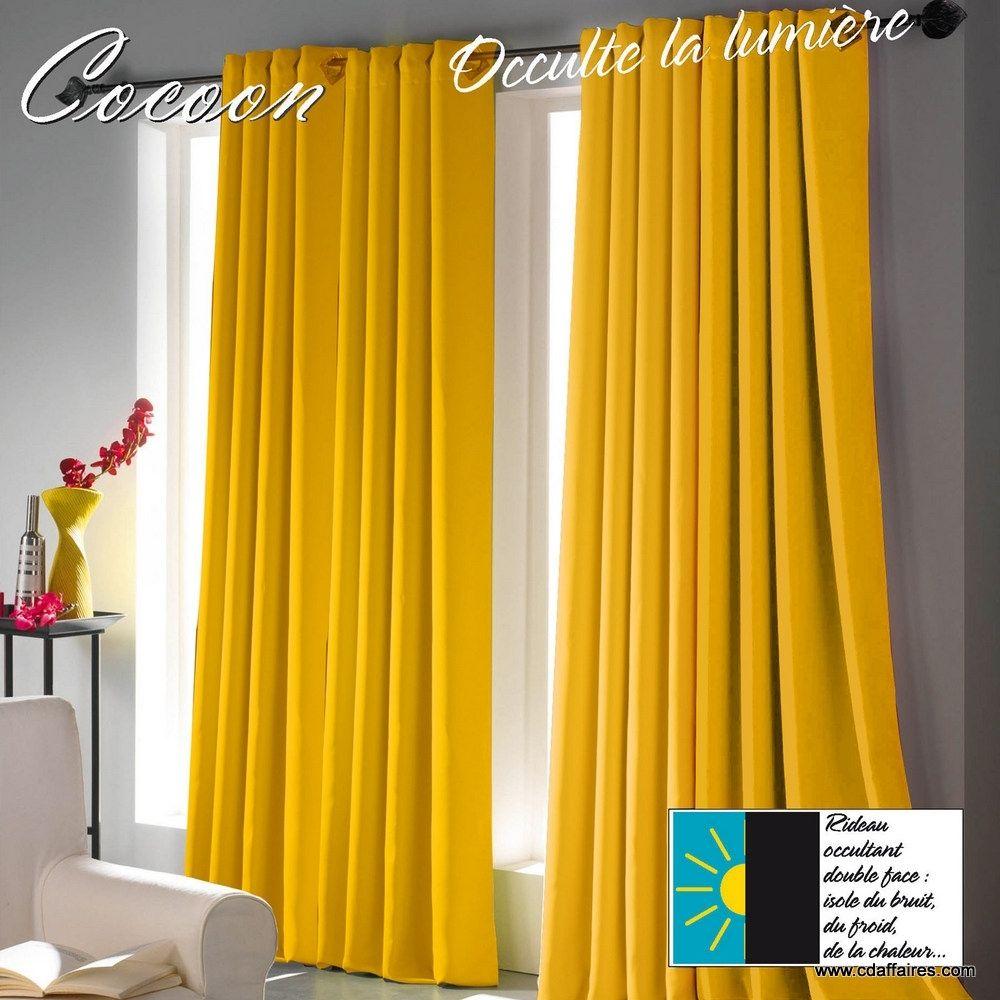 rideaux rideau jaune rideau occultant