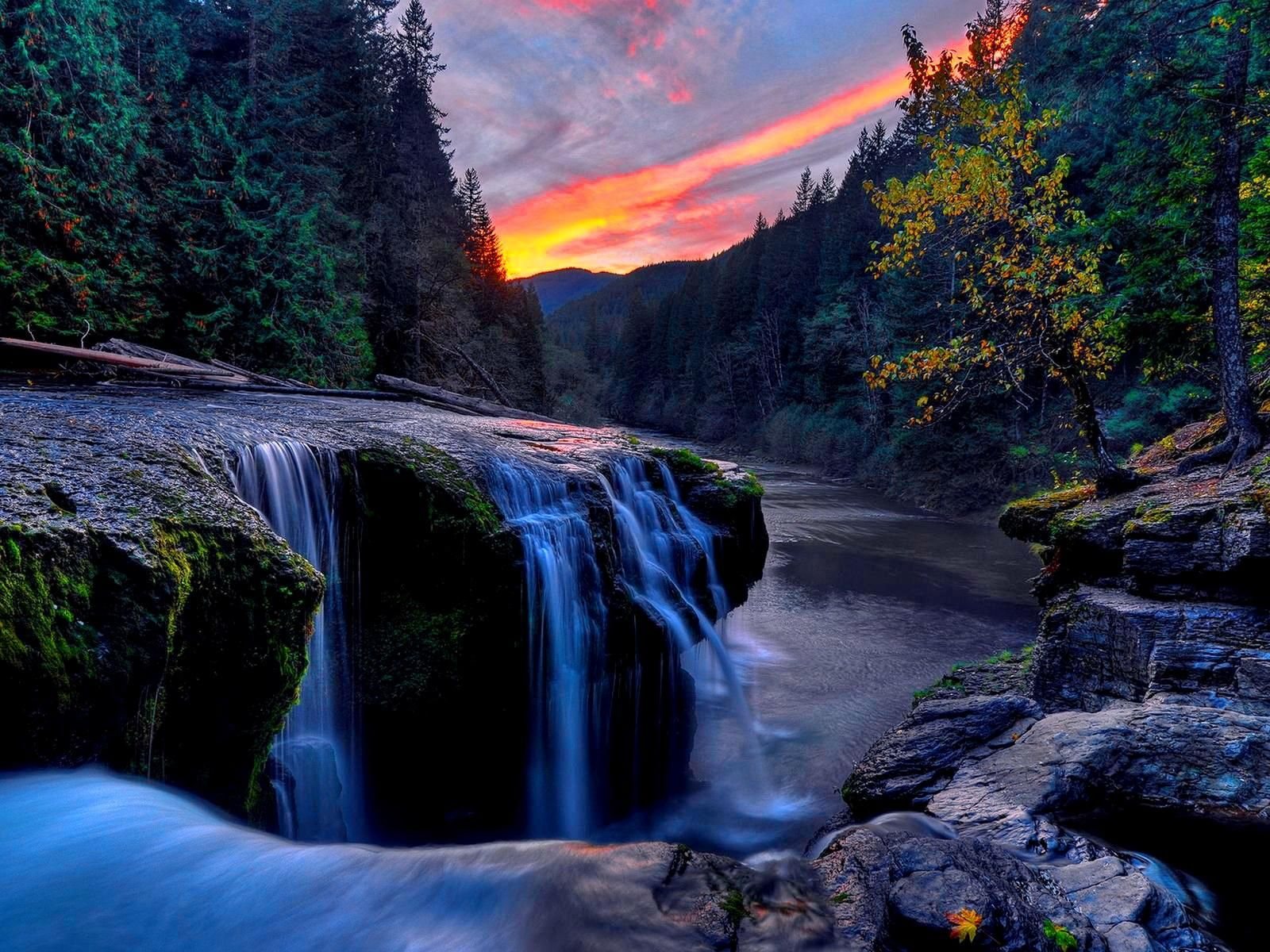 Mountain Waterfall Wallpaper 54538 Hd Wallpapers Desktopinhq Waterfall Wallpaper Waterfall Computer Wallpaper Hd