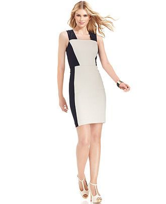 DKNYC Dress, Sleeveless Tweed Ponte-Knit Sheath - Womens Dresses - Macys