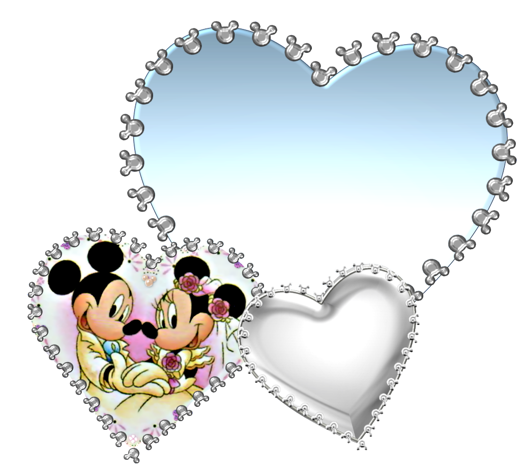 Mickey and Minnie: Lovely Hearts for Making Wedding Invitations ...