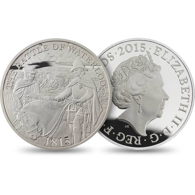 Battle of Waterloo 2015 UK £5 Silver Proof Coin