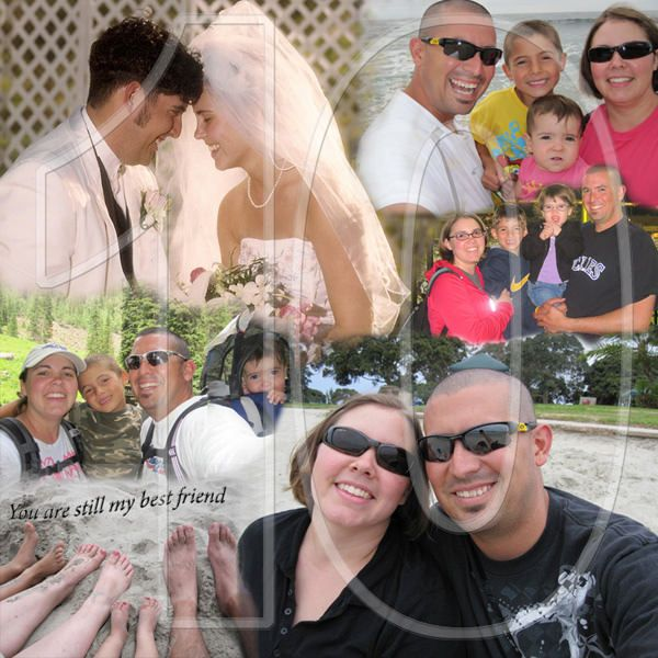 Love Story 10th Anniversary Collage I Love This Personal Wedding Anniversary Idea For Spouse You Can Be Creative Photo Collage Anniversary Photos Anniversary
