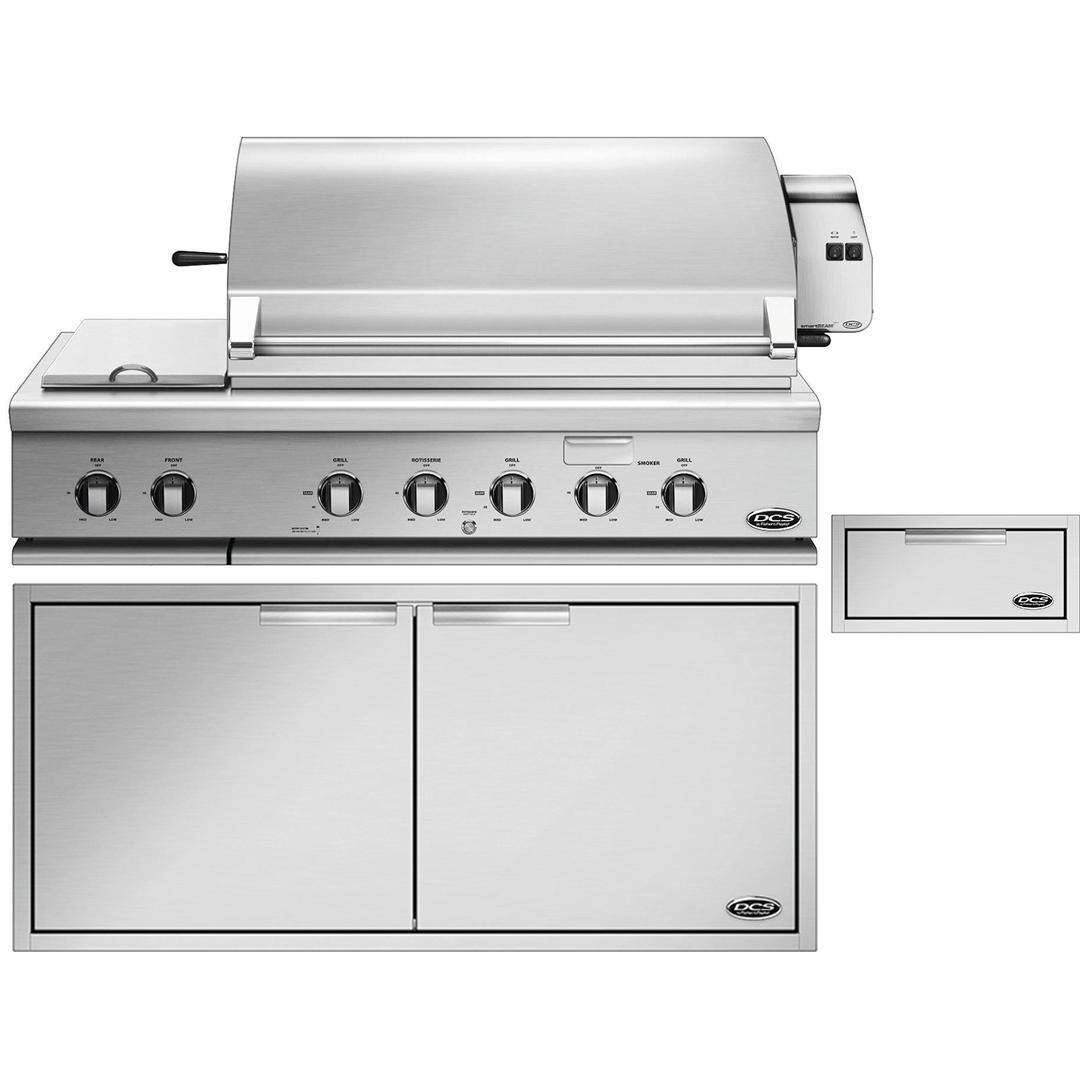 Dcs 3 Piece Series 7 48 Natural Gas Outdoor Kitchen Package With Integrated Side Burner Bh1 48rs N Adn1 20x48 Tds1 20 Built In Grill Kitchen Equipment Kitchen