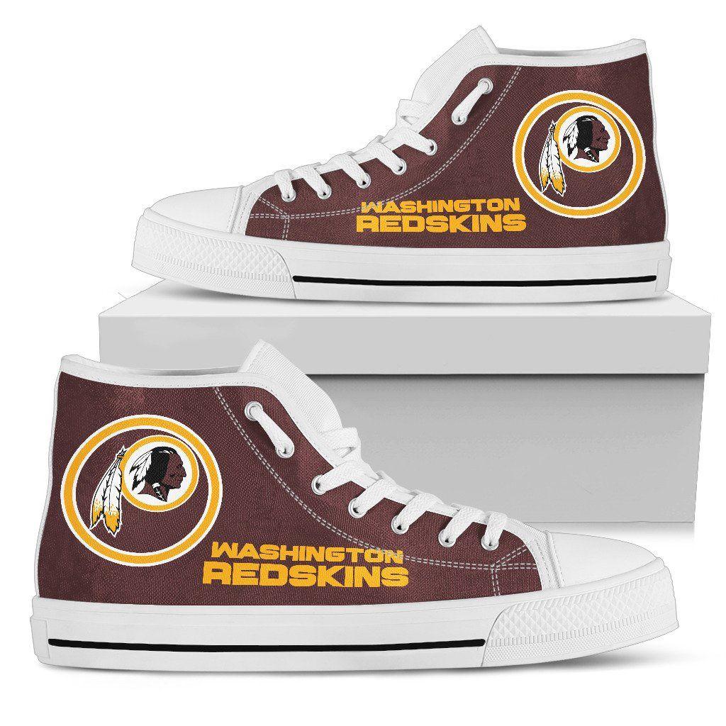 Circle Logo Washington Redskins High Top Shoes