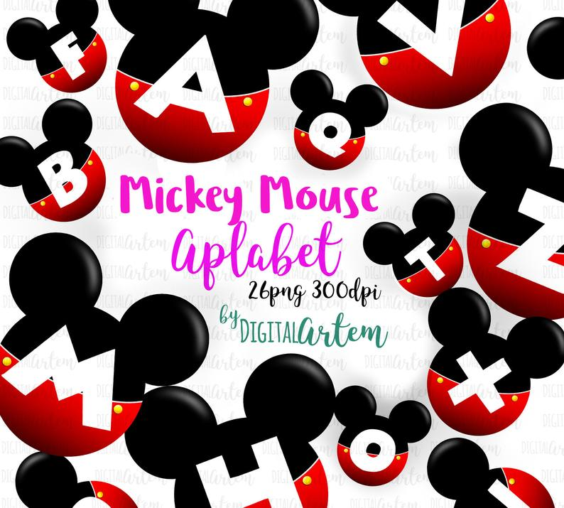 Mickey Mouse Letters Clipart Alphabet Clipart Disney Clipart Minnie Mouse Disney Inspired Clip Art Abc Cute Letters 26 Png In 2020 Mickey Mouse Letters Clip Art Disney Clipart