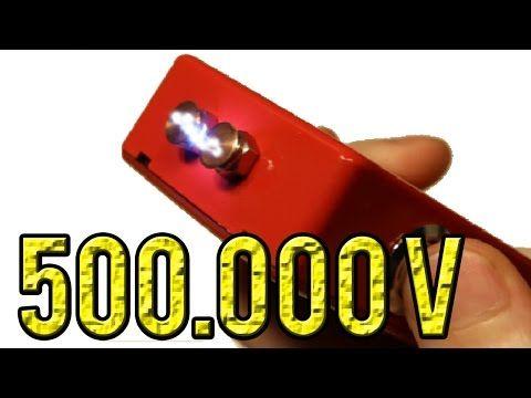 HOW TO MAKE A 500 000 VOLT TASER/STUN GUN  SUPER EASY - YouTube