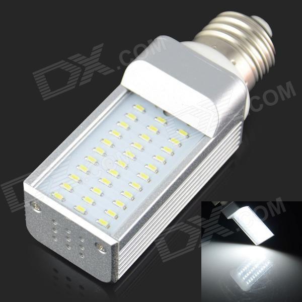 E27 4W 300LM 6000K 33 3014 SMD LED Bulb Is White White + Silver (AC 85-265V)