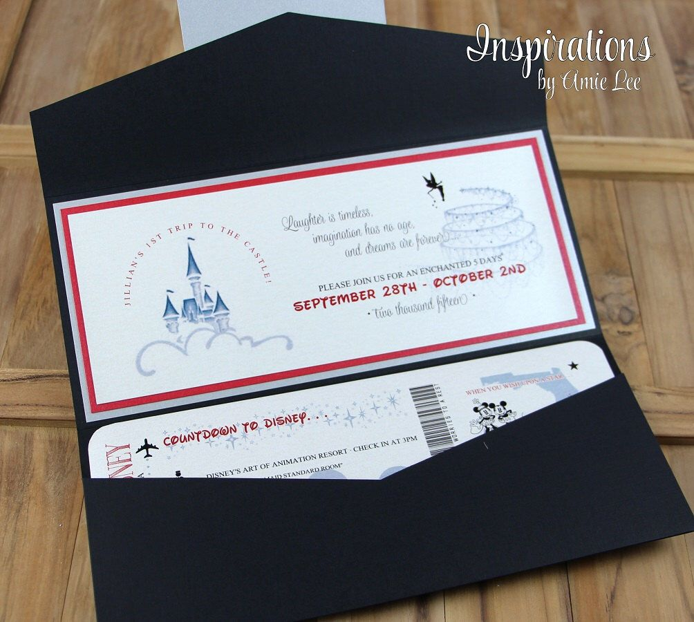 Disney Wedding Invitation: Disney Wedding Invitations, Disney Boarding Pass, Wedding