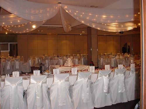 decoration salle mariage voilage