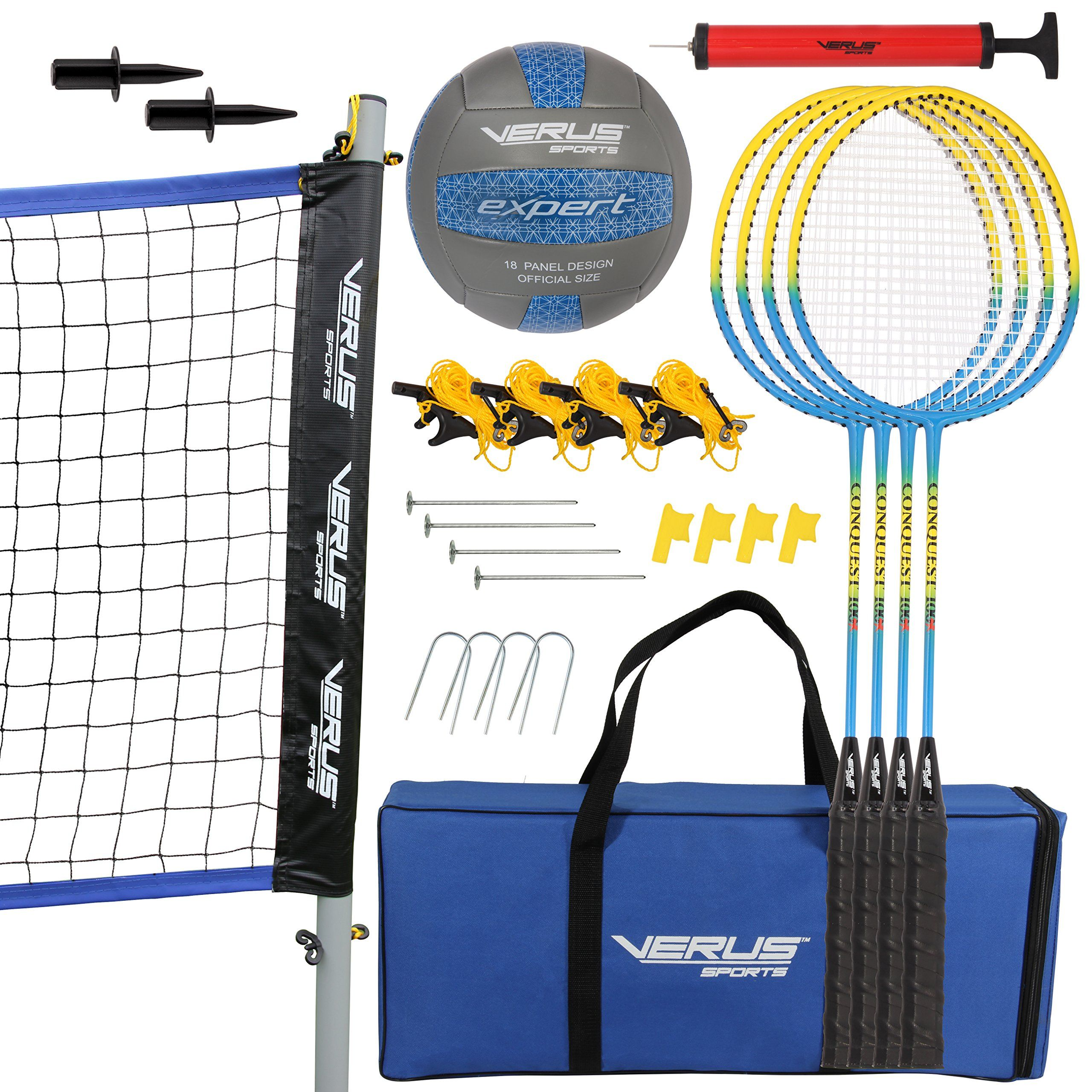 Verus Sports Cs700 Expert 2 Game Volleyball Badminton Sets Black Continue To The Product At The Image Link This Is An Badminton Set Badminton Volleyball