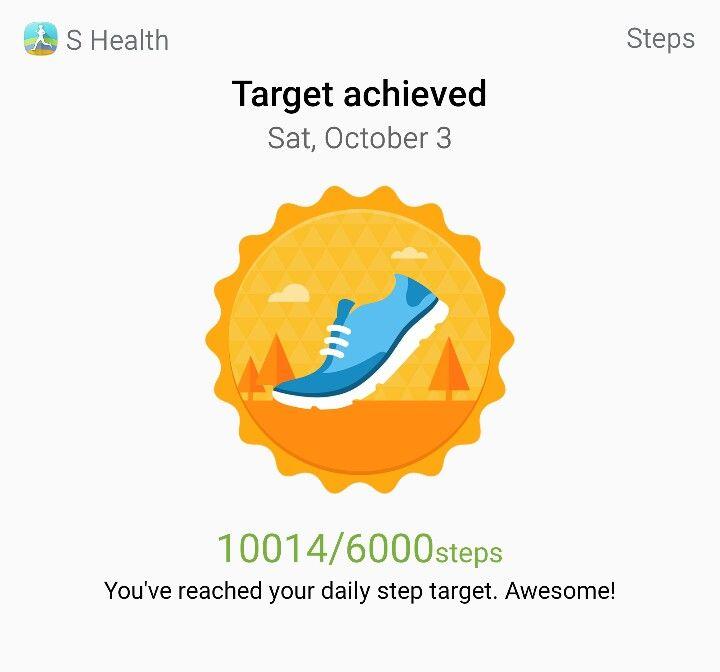 On my way 10000 steps achievement steps