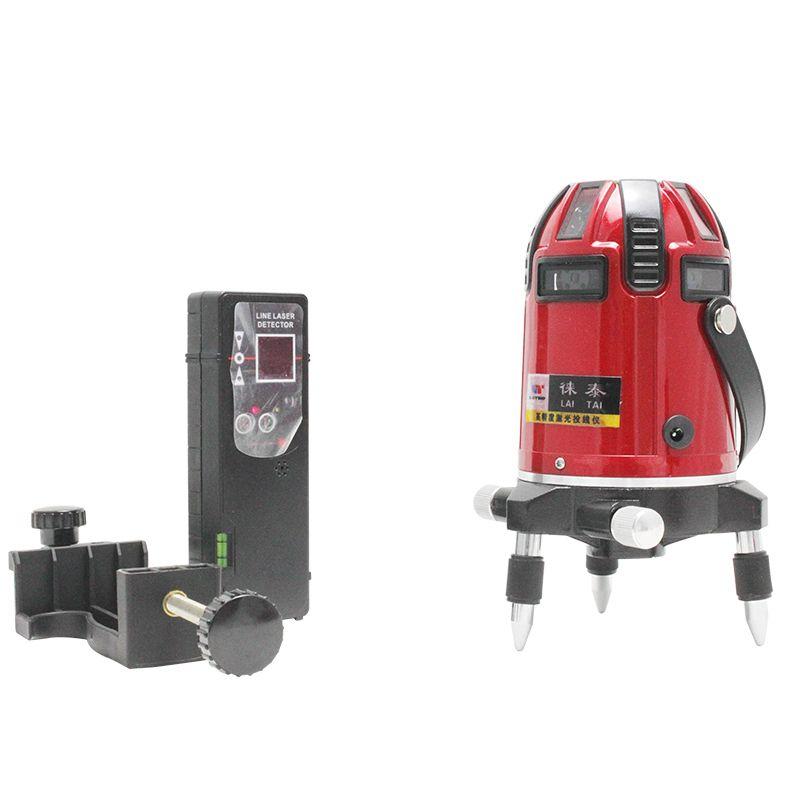 Leter 8 Lines Cross Line Laser Level 4v4h Electronic System With Laser Receiver Measurement Analysis Instruments Line Tools Instruments