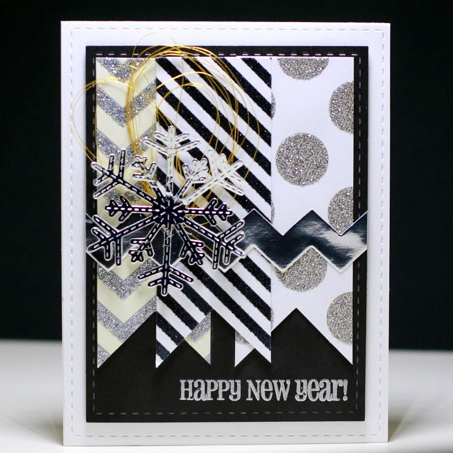 happy new year silver and gold scrapbookcom