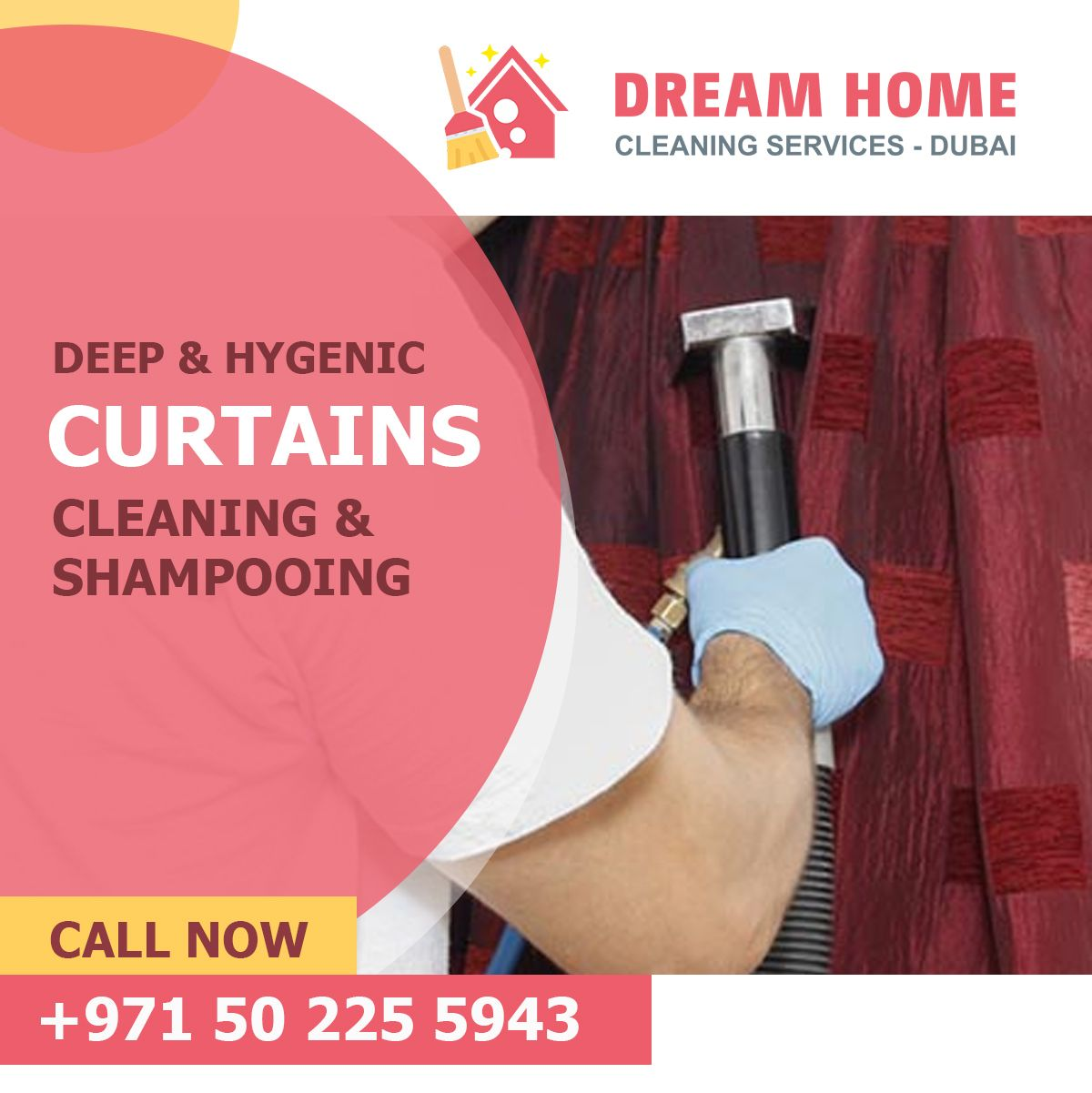 curtains cleaning and shampooing in dubai dream home cleaning rh pinterest com