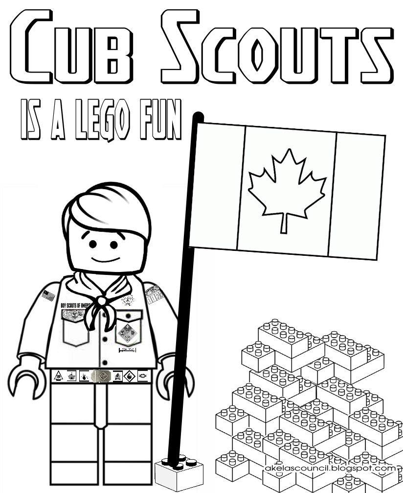 Akela\'s Council Cub Scout Leader Training: Lego Cub Scout Coloring ...