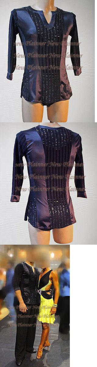 8b0ae6c01942 Tops Shirts 152367: M388 Men Latin Rhythm Salsa Ballroom Dance Shirt Size  Xl Black Sleeve Crystals -> BUY IT NOW ONLY: $139.99 on eBay!