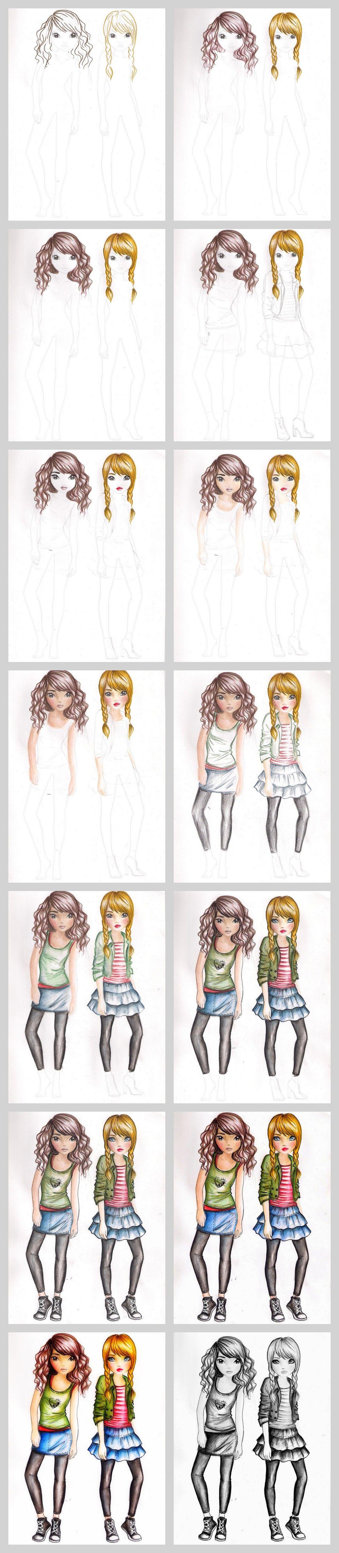 TopModel drawing tutorial by funandcake