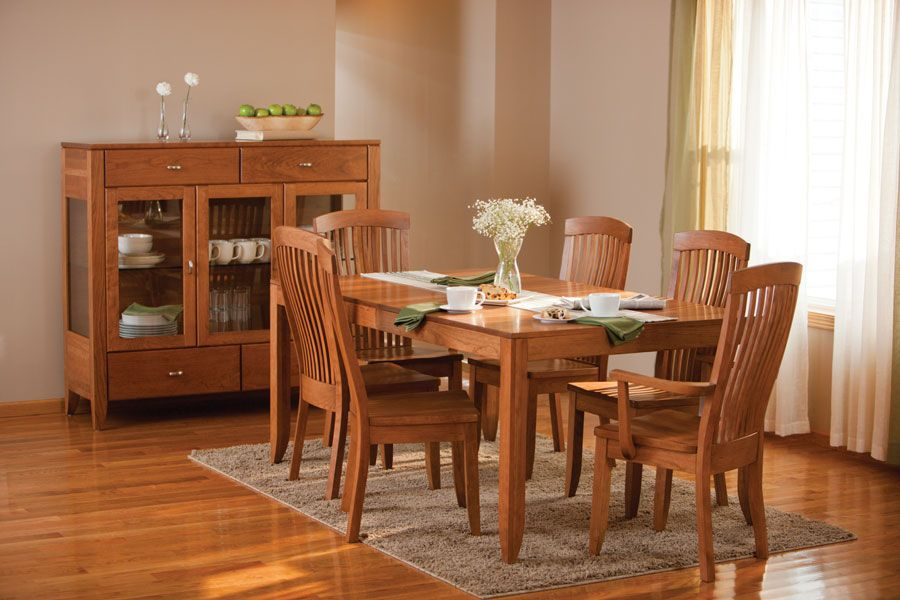 justine leg table from simply amish furniture colorado dining room rh pinterest com