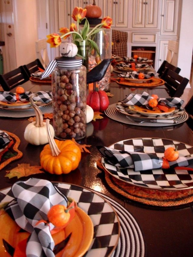 Halloween table setting , 20 Ideas for Halloween Table