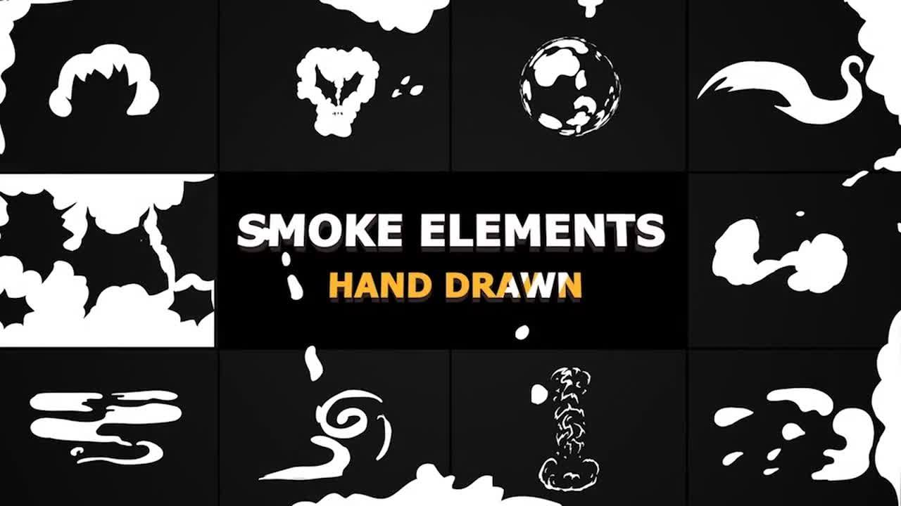 The Cartoon Smoke Elements And Transitions motion graphics template