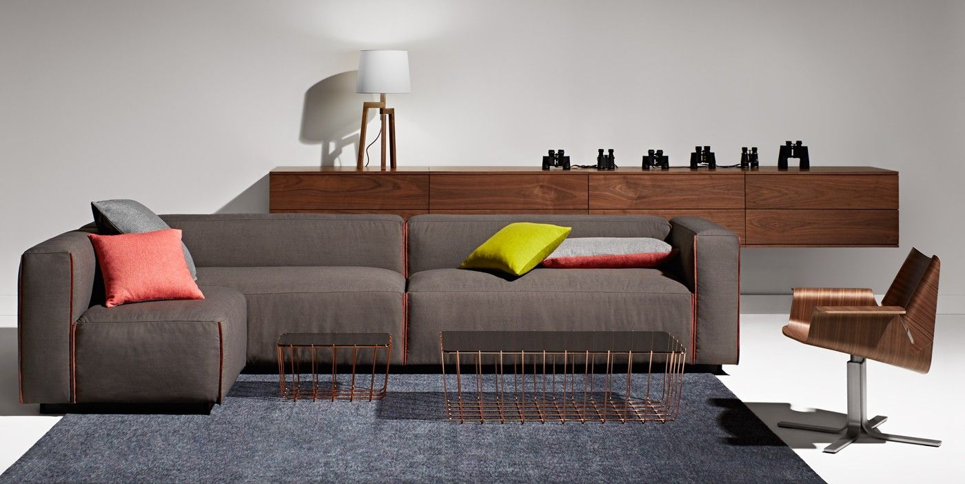 Cleon Medium+ Sectional Sofa, Tait Ochre | Large sectional ...