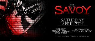 """Savoy Saturdays - http://www.eventsubmit.net/event.php?id=20216=type%3D%26search%3Dsavoy  #Nightclub #SantaBarbara #UCSB #Westmont #SBCC    Hey there, an invitation to """"Like"""" us on Facebook. We want to help you discover all the parties and other events happening close to you. http://www.facebook.com/pages/EventSubmit/199260180116484?sk=app_190322544333196 Or, maybe you have an event to tell people about - www.eventsubmit.net (SBA)"""