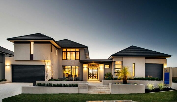 Garage On Either Side Of The House House Designs Exterior Modern House Exterior Custom Home Builders