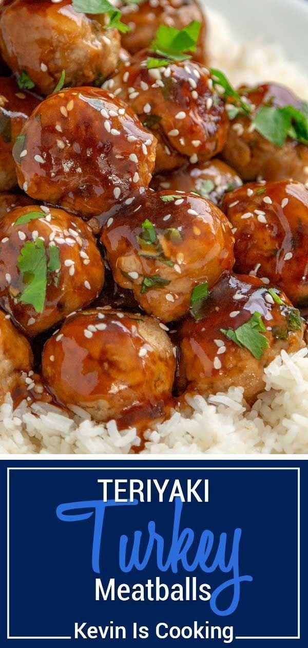 These simple teriyaki turkey meatballs are made from seasoned turkey mince ...   - Bridal nails -