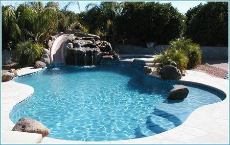 Pool Slide Pool Houses Saltwater Pool Water Slides