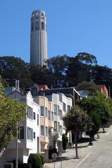 Telegraph Hill and Coit Tower, San Francisco, California